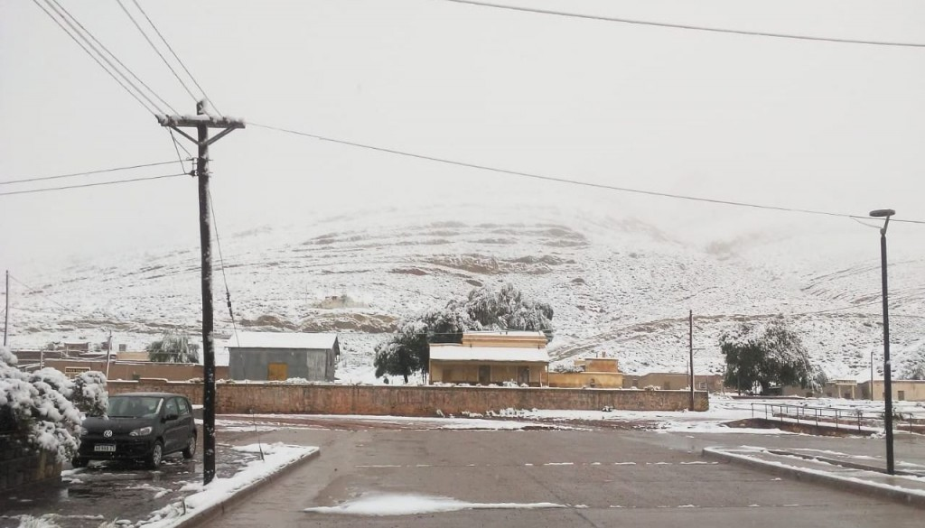 Insólito, nevó en la puna Jujeña.