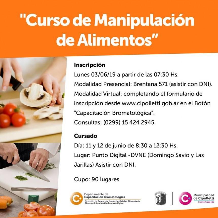 Curso de Manipulación de Alimentos en Cipolletti