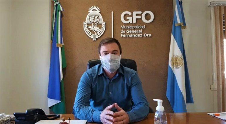 Fernandez Oro anunció cero casos positivos de Covid-19