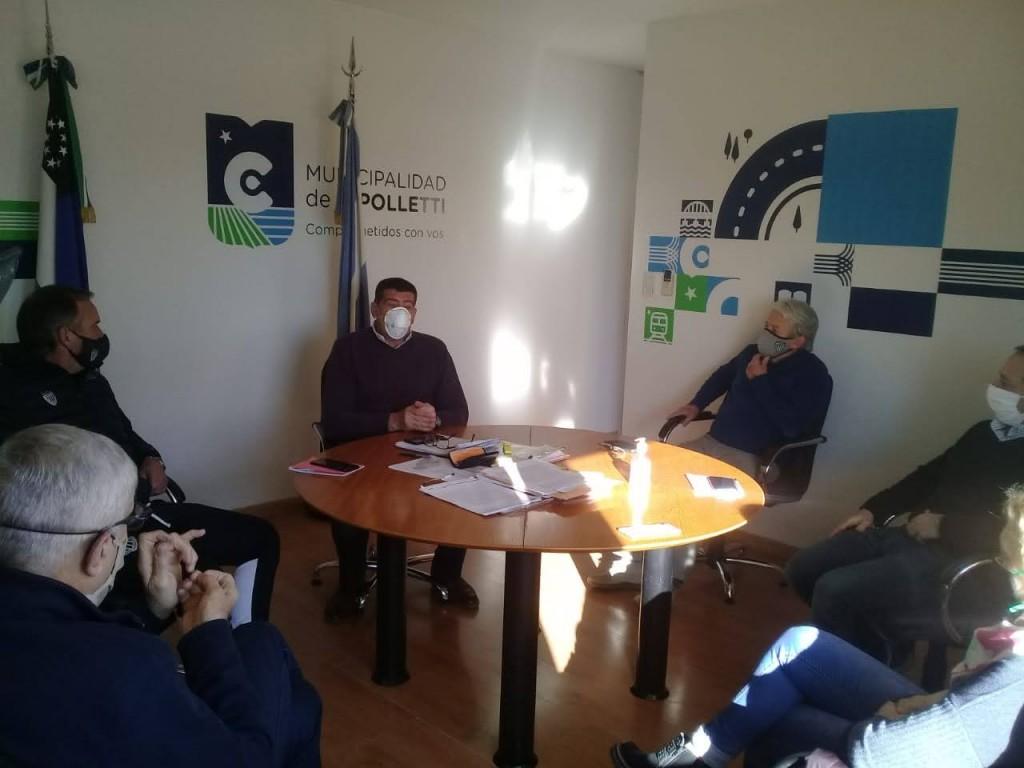 Reunión del Doctor Claudio Di Tella y club Cipolletti