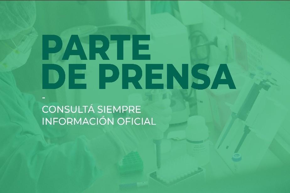 Parte de prensa del Ministerio de Salud de Rio Negro (02/10/2020