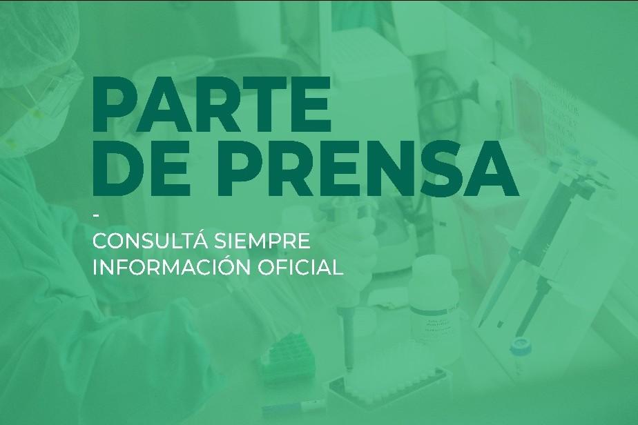Parte de prensa del Ministerio de Salud de Rio Negro (27/10/2020